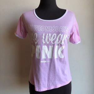 Mean Girls sz S pink shirt